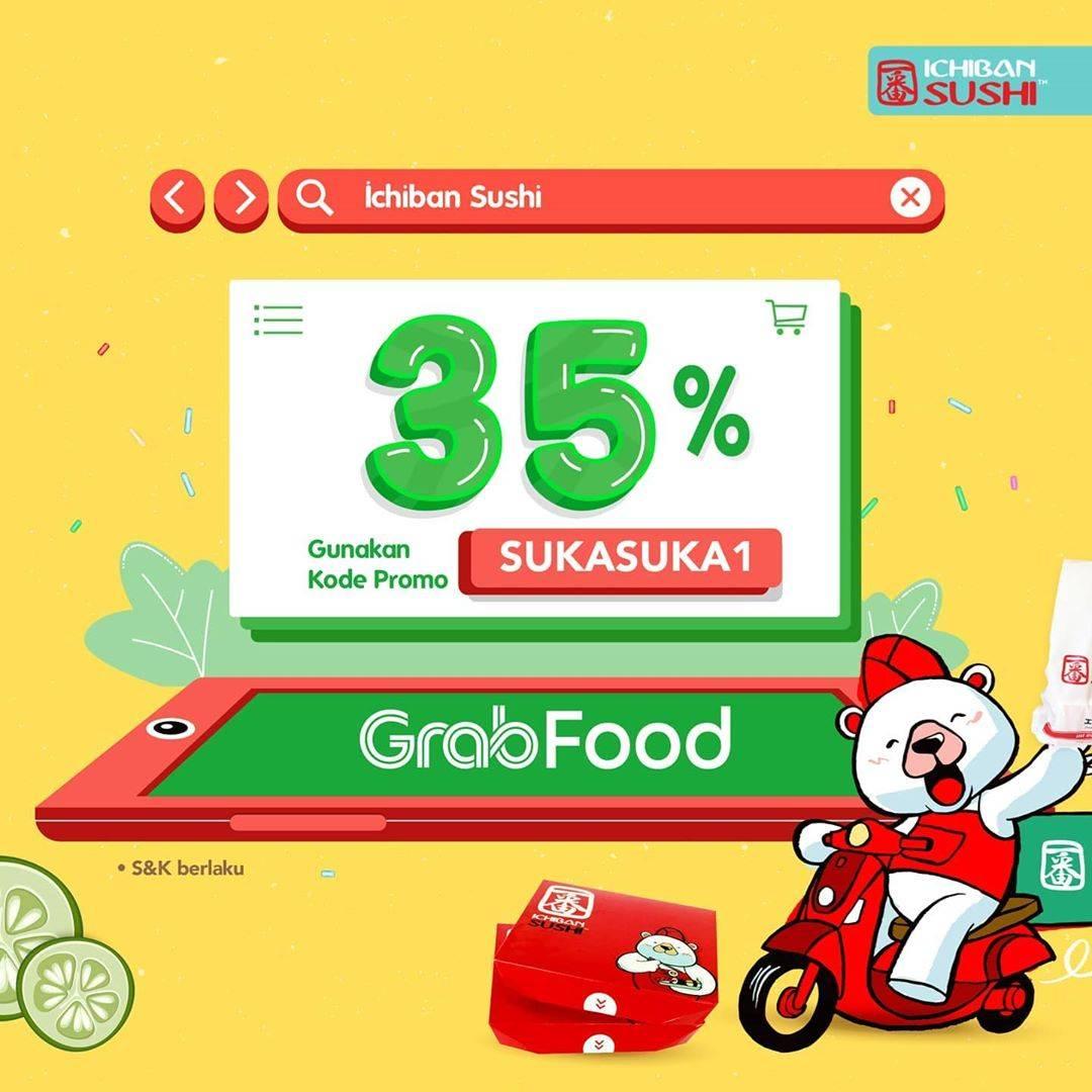 Diskon Promo Ichiban Sushi Diskon 35% Untuk Pemesanan Menu Melalui GrabFood