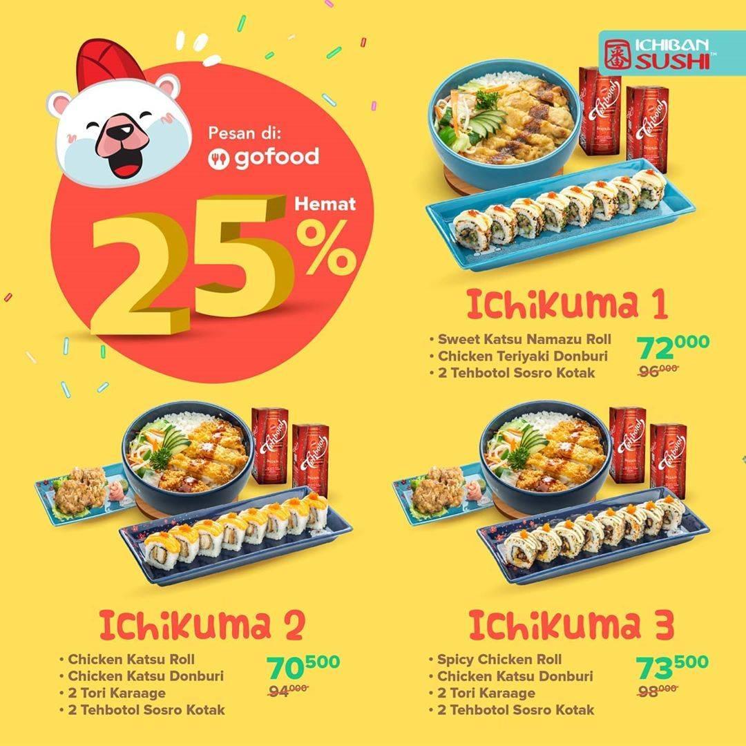 Diskon Promo Ichiban Sushi Diskon 25% Untuk Pemesanan Menu Melalui GoFood