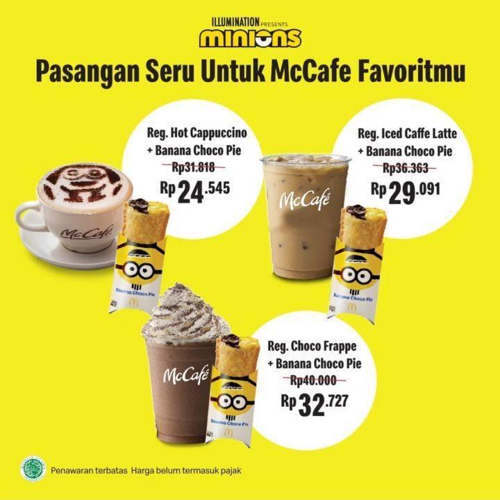 Diskon Promo McDonalds Paket Banana Choco Pie + McCafe Favorit