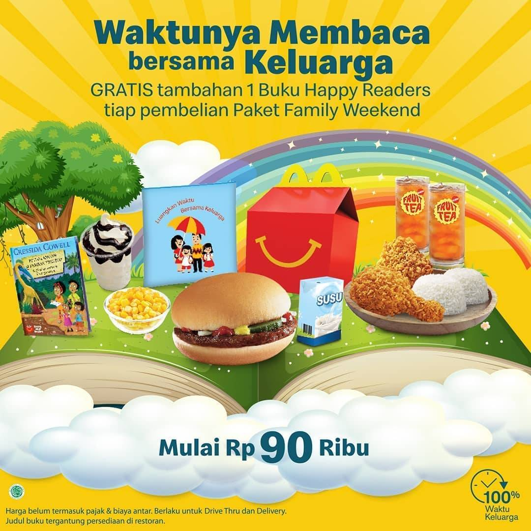 Diskon Promo McDonalds Paket Family Weekend Dengan Harga Mulai Dari Rp. 90Ribu