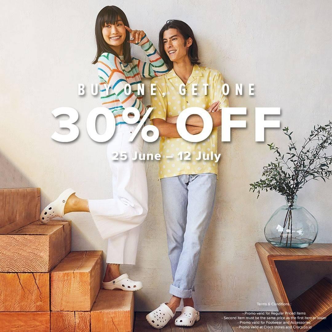 Diskon Promo Crocs Diskon 30% Untuk Pembelian Produk Kedua
