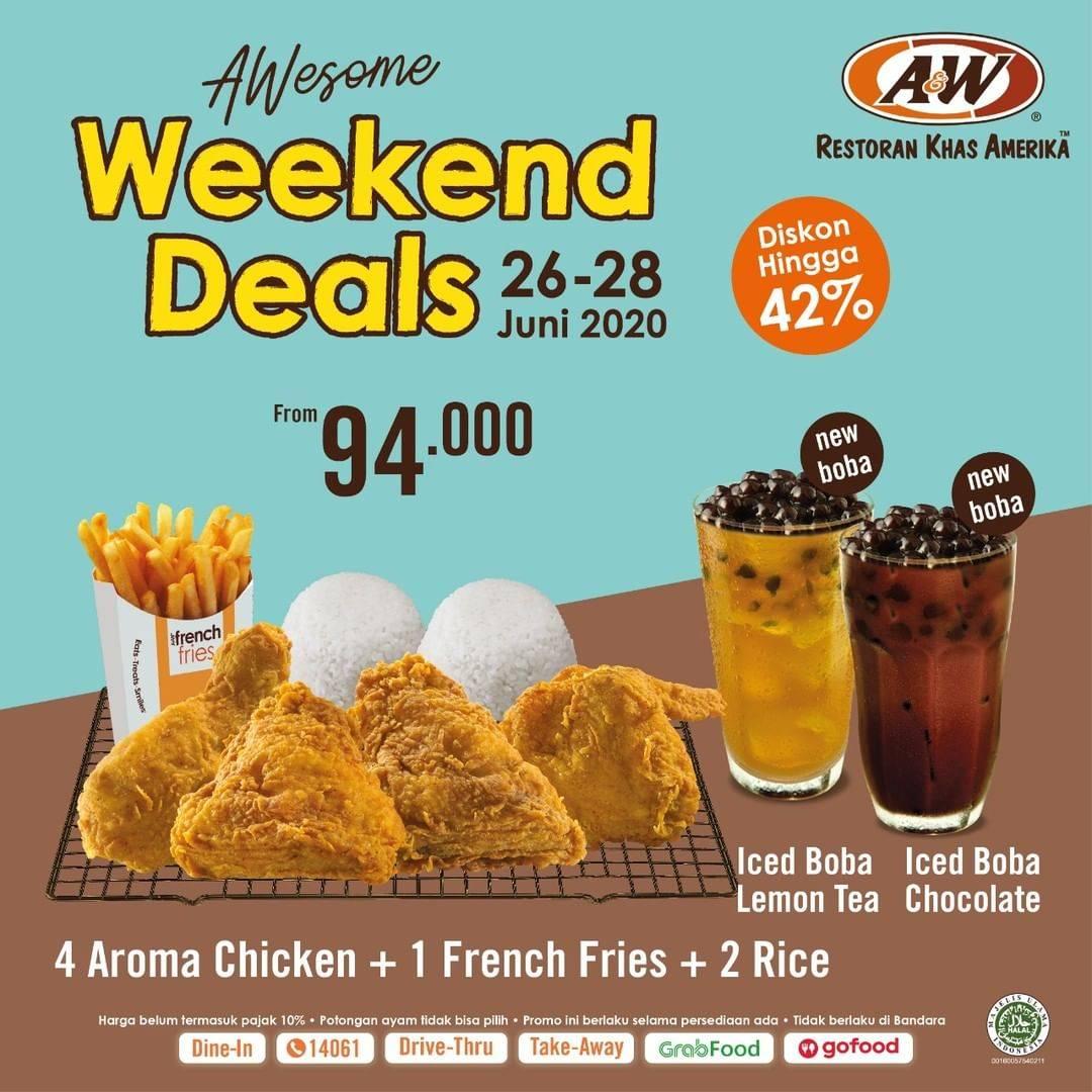 Diskon Promo A&W Restaurant Paket Weekend Deals Dengan Harga Mulai Dari Rp. 94.000
