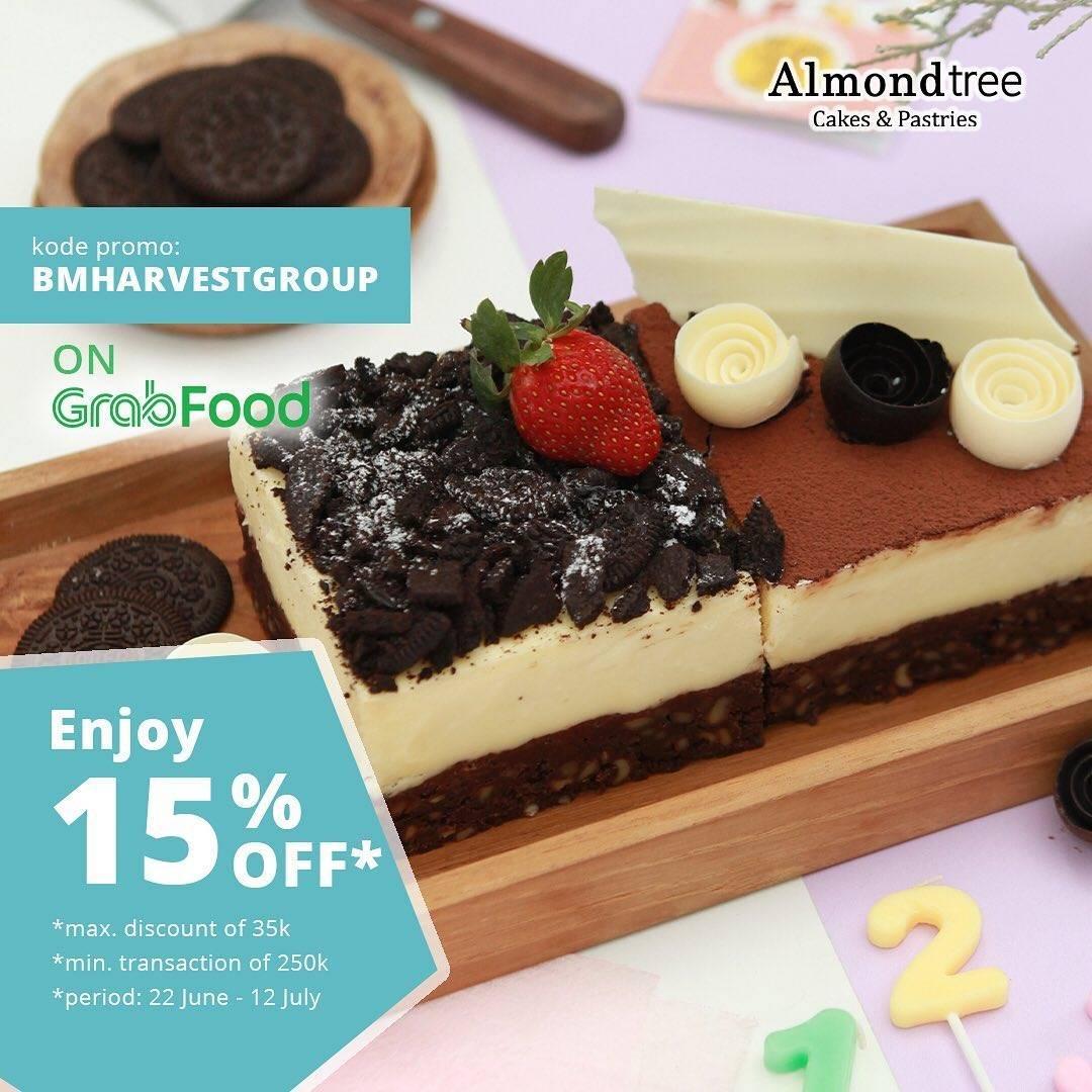 Diskon Promo Almond Tree Diskon 15% Untuk Pemesanan Cake Favorit Melalui GrabFood