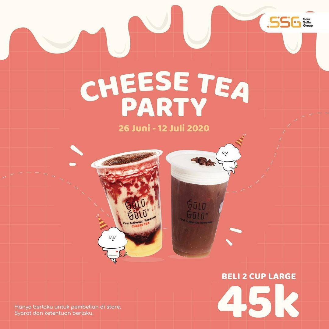 Diskon Promo Gulu Gulu Cheese Tea Party Large Size Package Only For Rp. 45.000