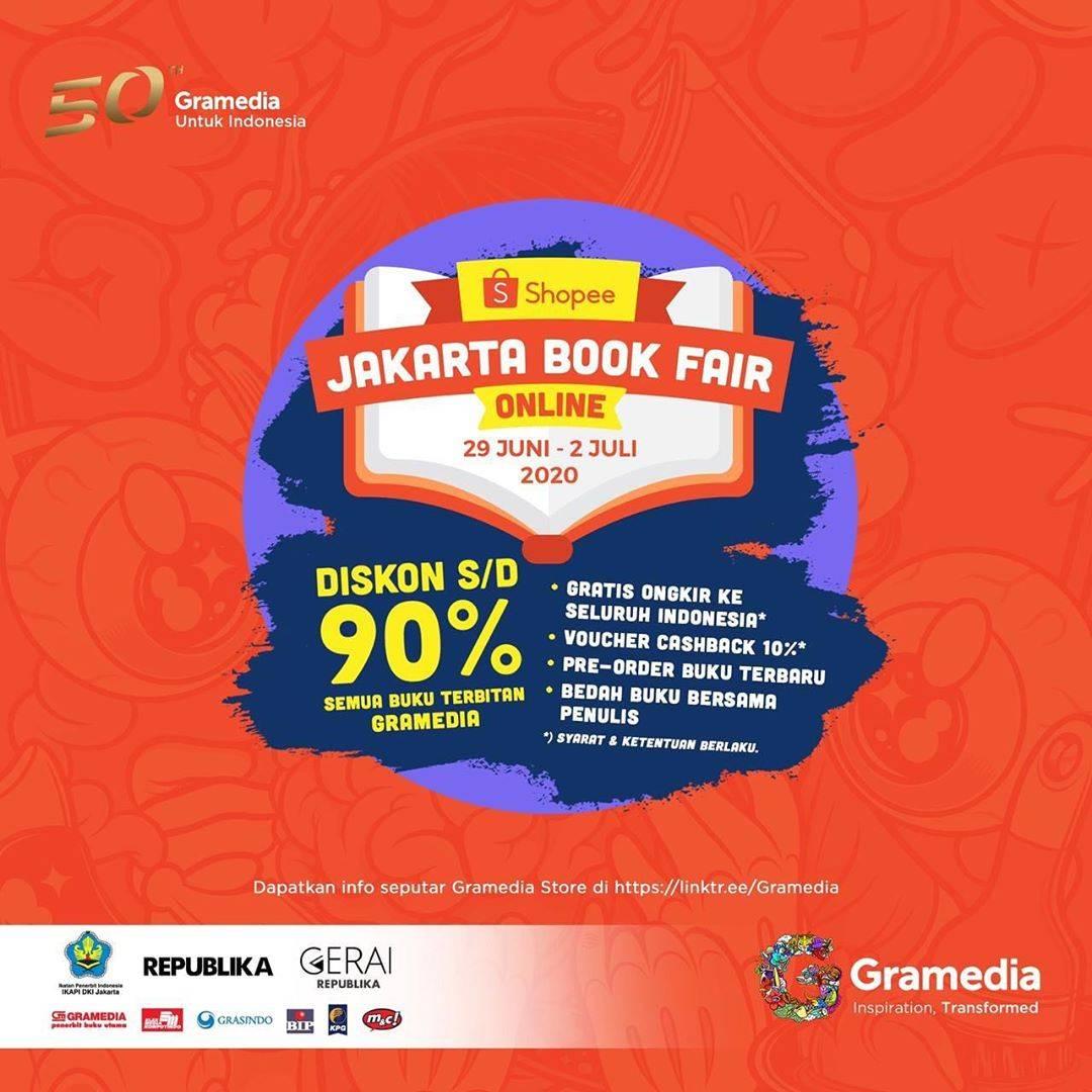 Diskon Promo Gramedia Jakarta Book Fair Online 2020 Dapatkan Diskon Hingga 90% Di Shopee