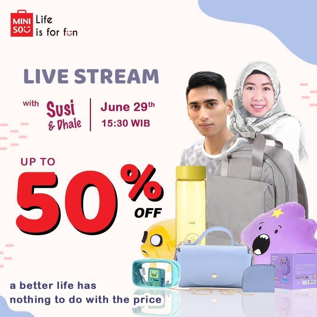 Diskon Promo Miniso Live Stream Diskon Hingga 50% Untuk Produk Favorit Di Lazada