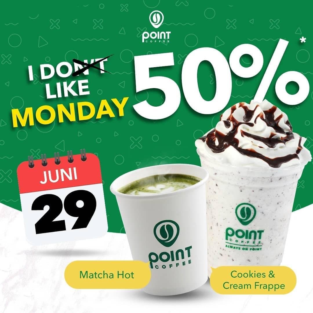 Diskon Promo Point Coffee Diskon 50% Untuk Cookies & Cream / Hot Matcha