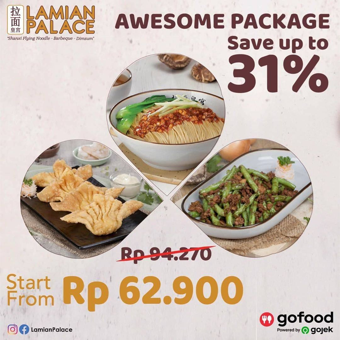 Diskon Promo Lamian Palace Save Up To 31% For Order Awesome Package On GoFood