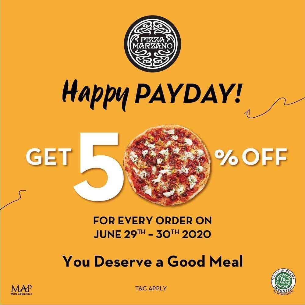 Diskon Promo Happy Payday Pizza Marzano Discount 50% Off For All Variant Of Pizza