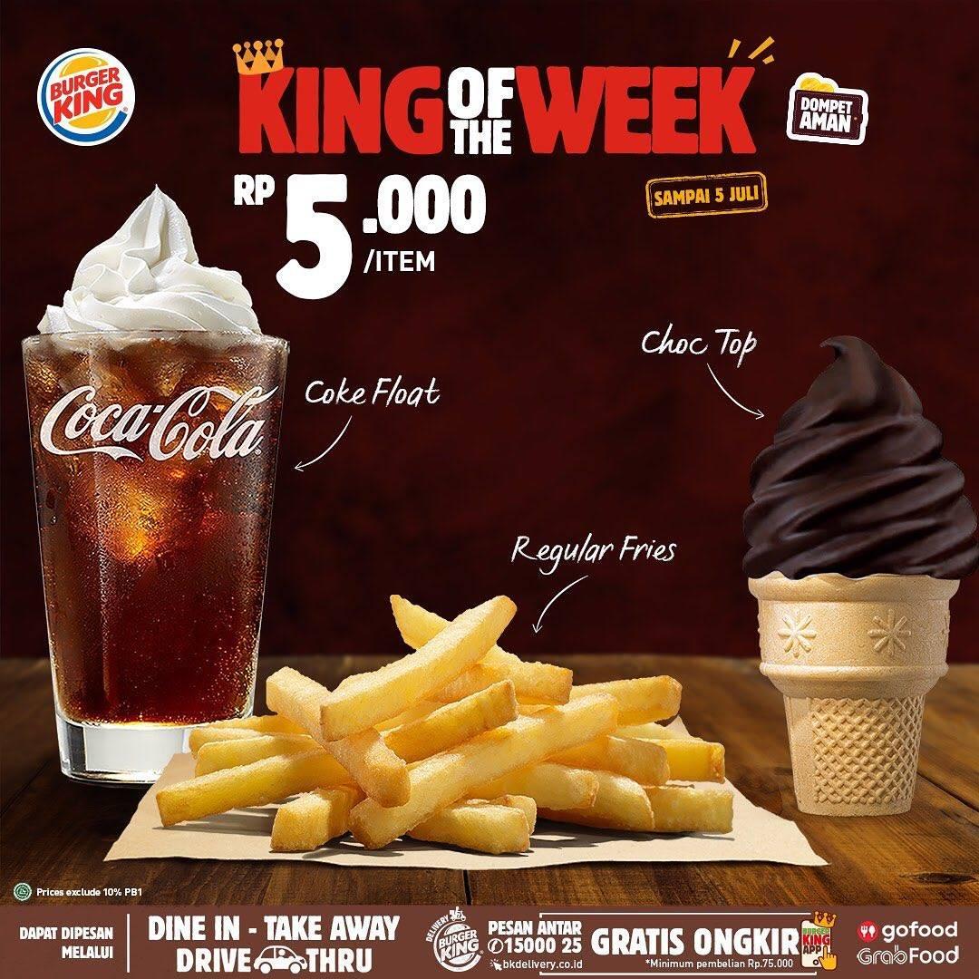 Diskon Promo Burger King King Of The Week