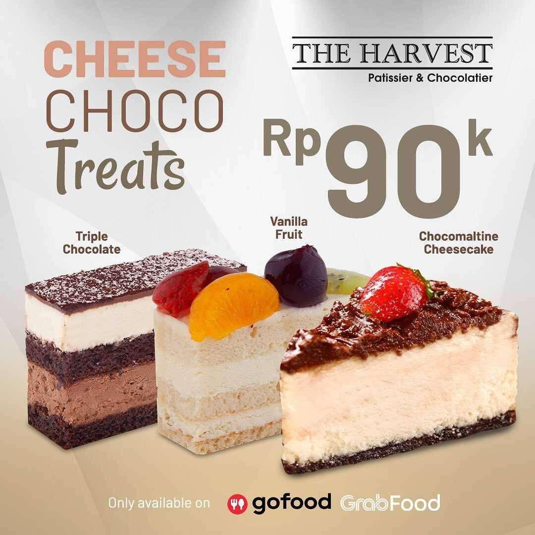 Promo diskon Promo The Harvest Paket Choco Cheese Treats Hanya Rp. 90.000