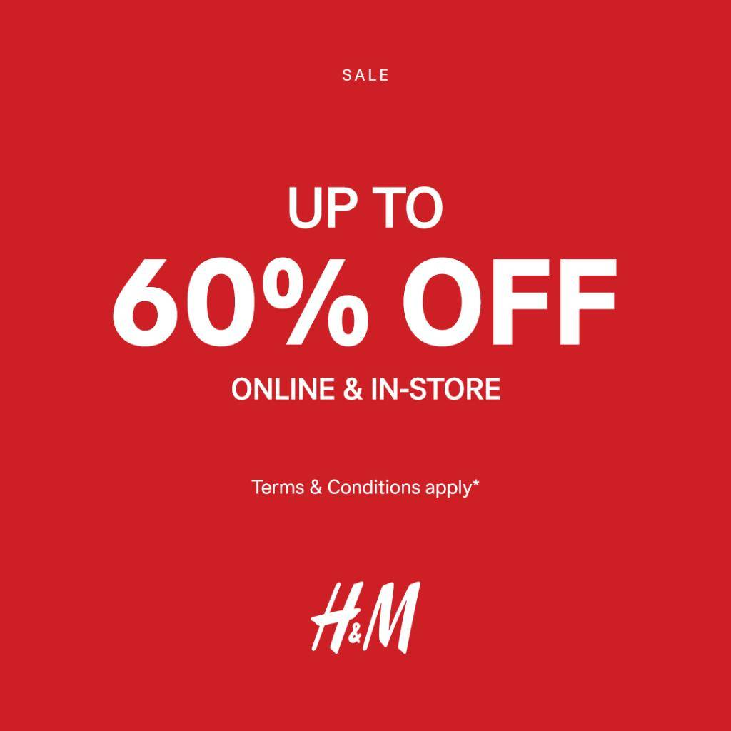 Diskon Promo H&M Diskon Up To 70% Online dan In-Store