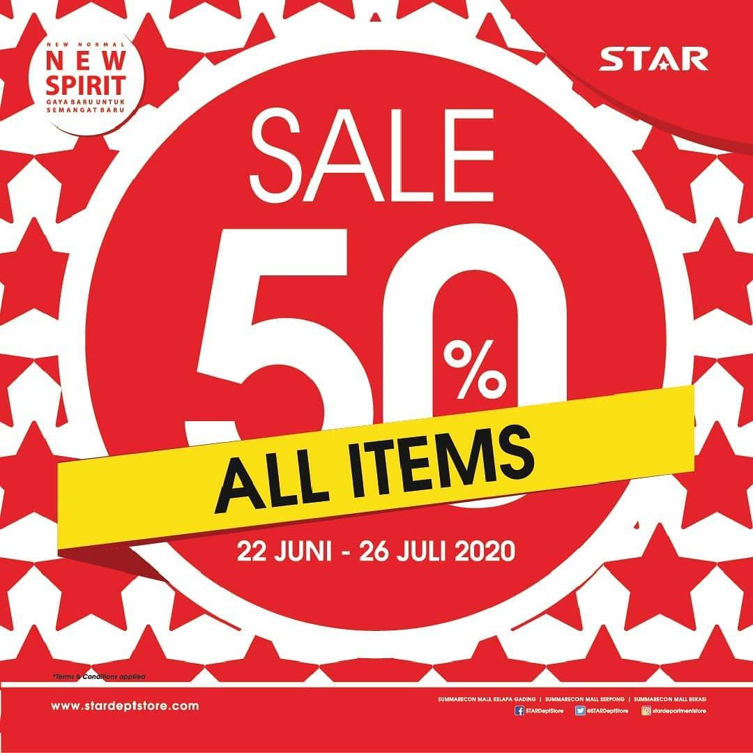 Diskon Promo Star Department Store Sale 50% Off For All Items