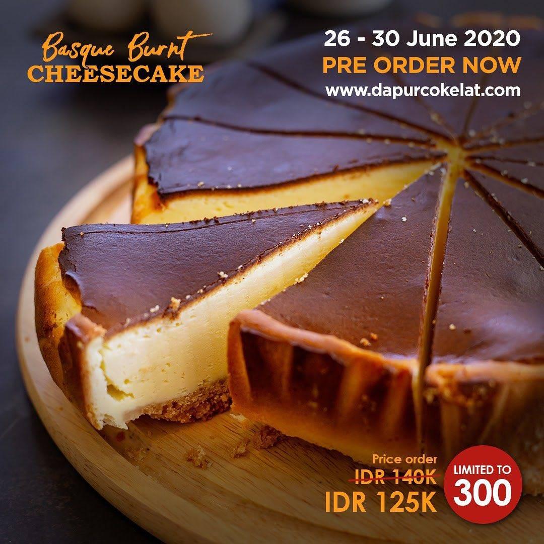 Diskon Promo Dapur Cokelat Harga Spesial Basque Burnt Cheesecake Hanya Rp. 125.000