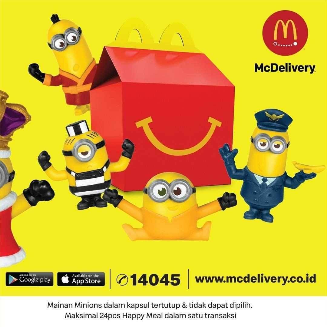 Promo diskon Promo McDonalds Advanced Order Happy Meal Minions