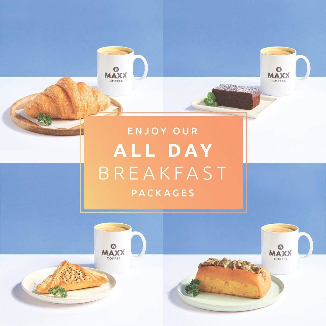 Diskon Promo Maxx Coffee All Day Breakfast Package Special Value Start From IDR 36.000
