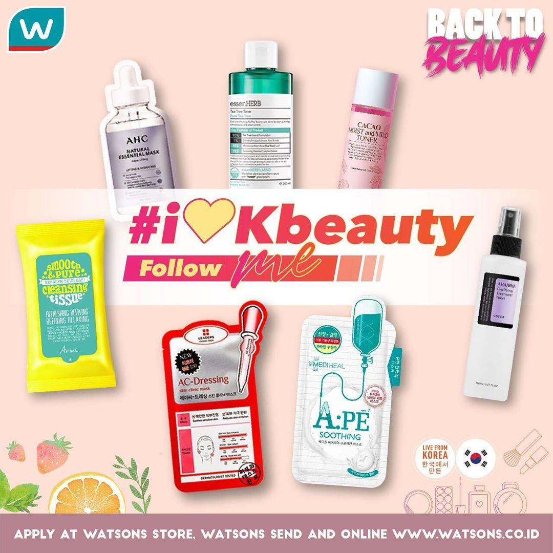 Diskon Promo Watsons i Love KBeauty, Dapatkan Diskon Hingga 50% Untuk Produk Skincare Korea