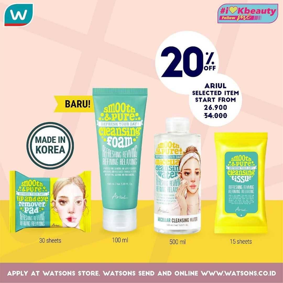 Promo diskon Promo Watsons i Love KBeauty, Dapatkan Diskon Hingga 50% Untuk Produk Skincare Korea