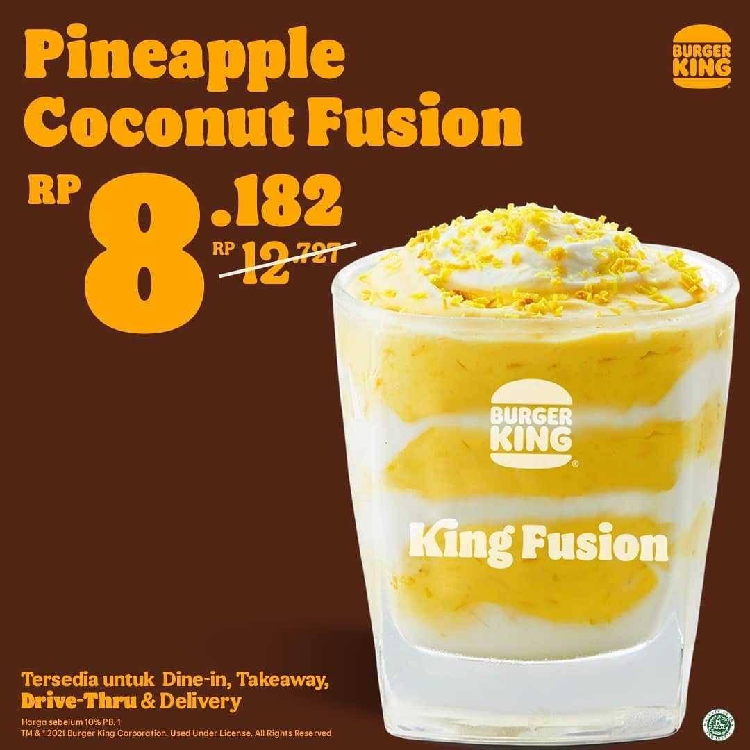 Promo diskon Burger King Promo Tropical Delight Start From Rp. 8.182