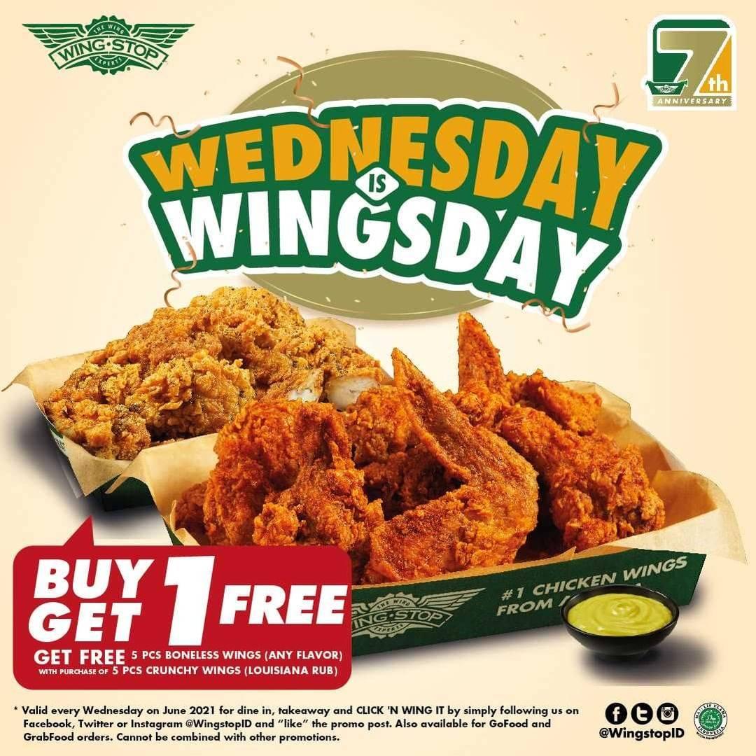 Diskon Wingstop Wednesday Is Wingsday Buy 1 Get 1 Free