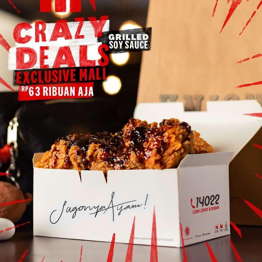 Diskon KFC Crazy Deals Exclusive Malls Hanya Rp. 63Ribuan Aja