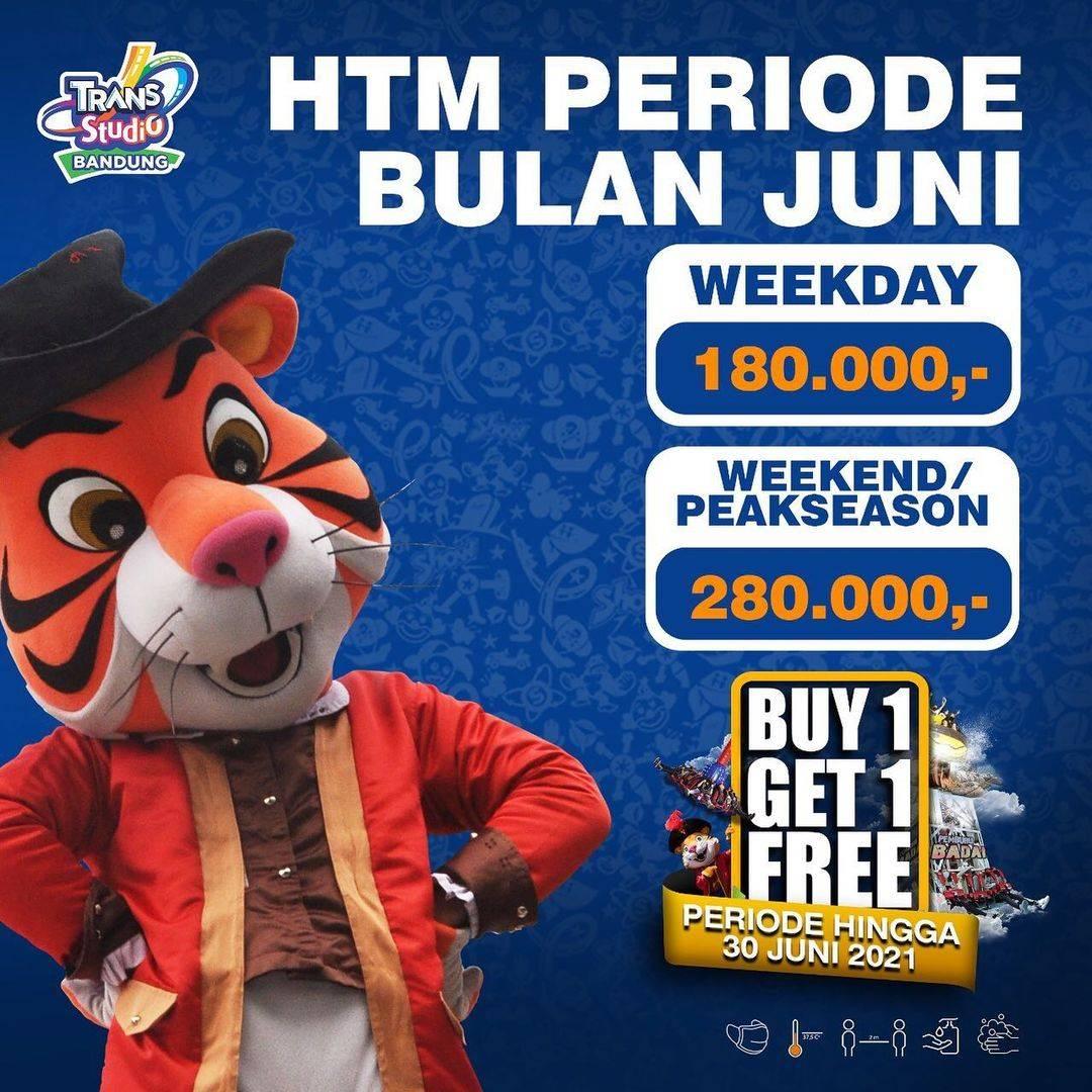 Diskon Trans Studio Bandung Buy 1 Get 1 Free Tiket Masuk