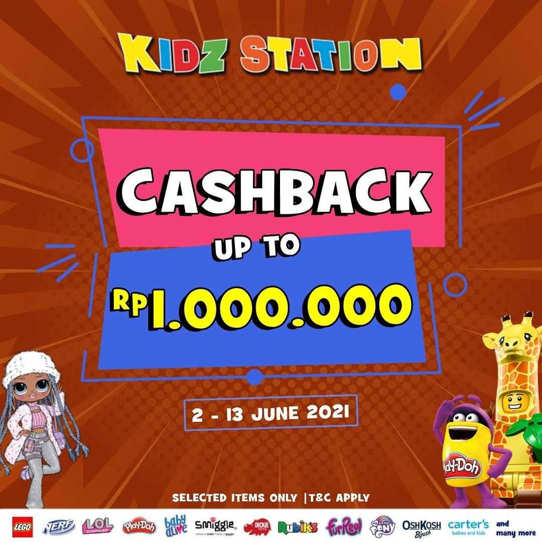 Diskon Kidz Station Cashback Up To Rp. 1.000.000