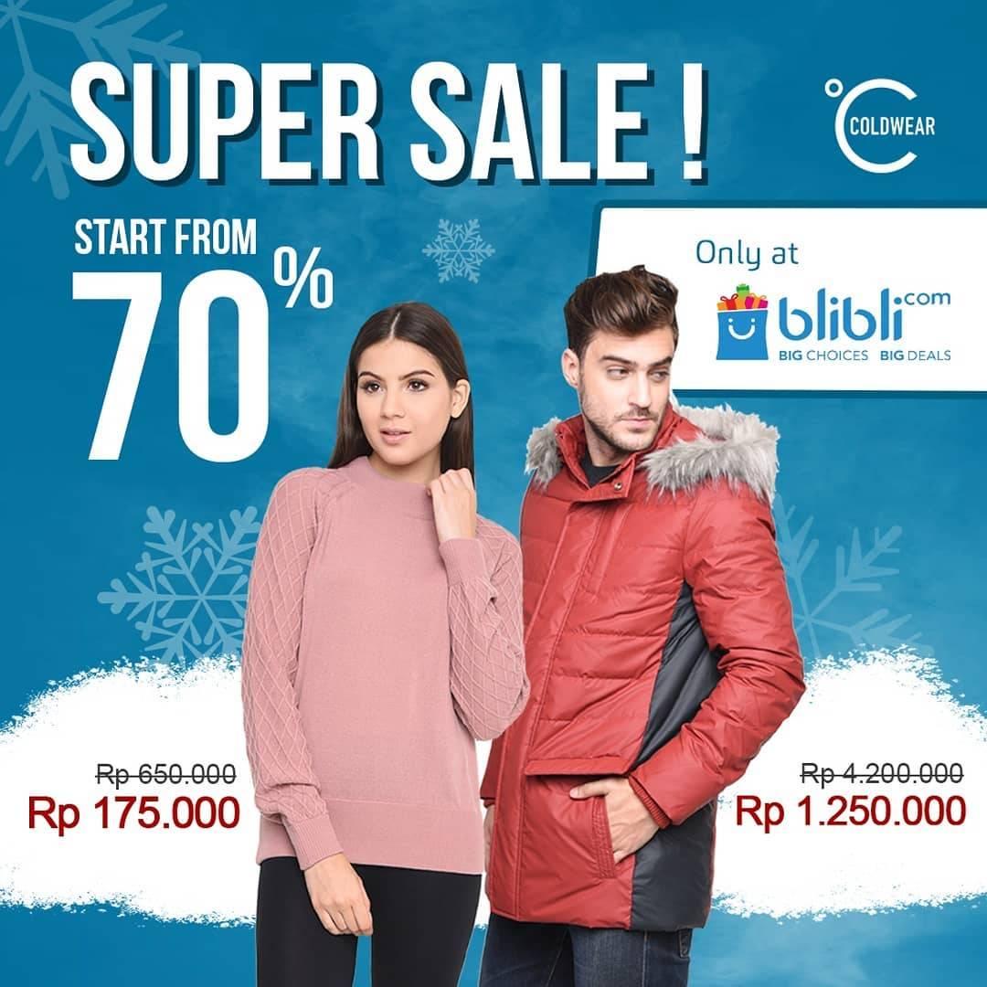 Diskon Cold Wear Super Sale Start From 70% Off