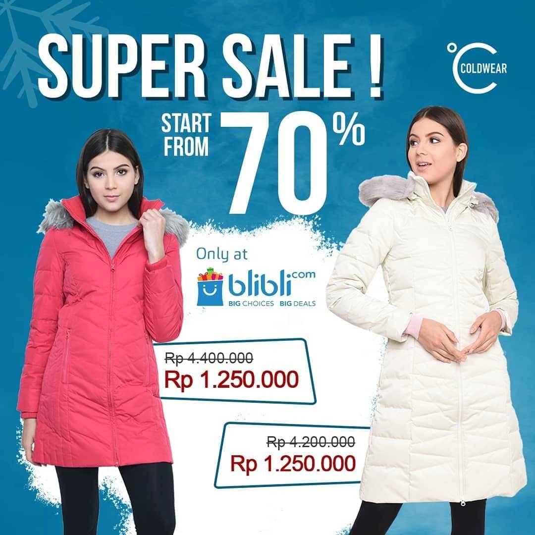 Promo diskon Cold Wear Super Sale Start From 70% Off