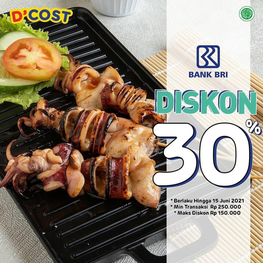 Diskon D'Cost Diskon 30% Dengan Kartu Debit BRI