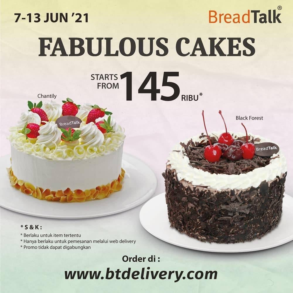 Diskon Bread Talk Promo Fabulous Cake Start From Rp. 145.000