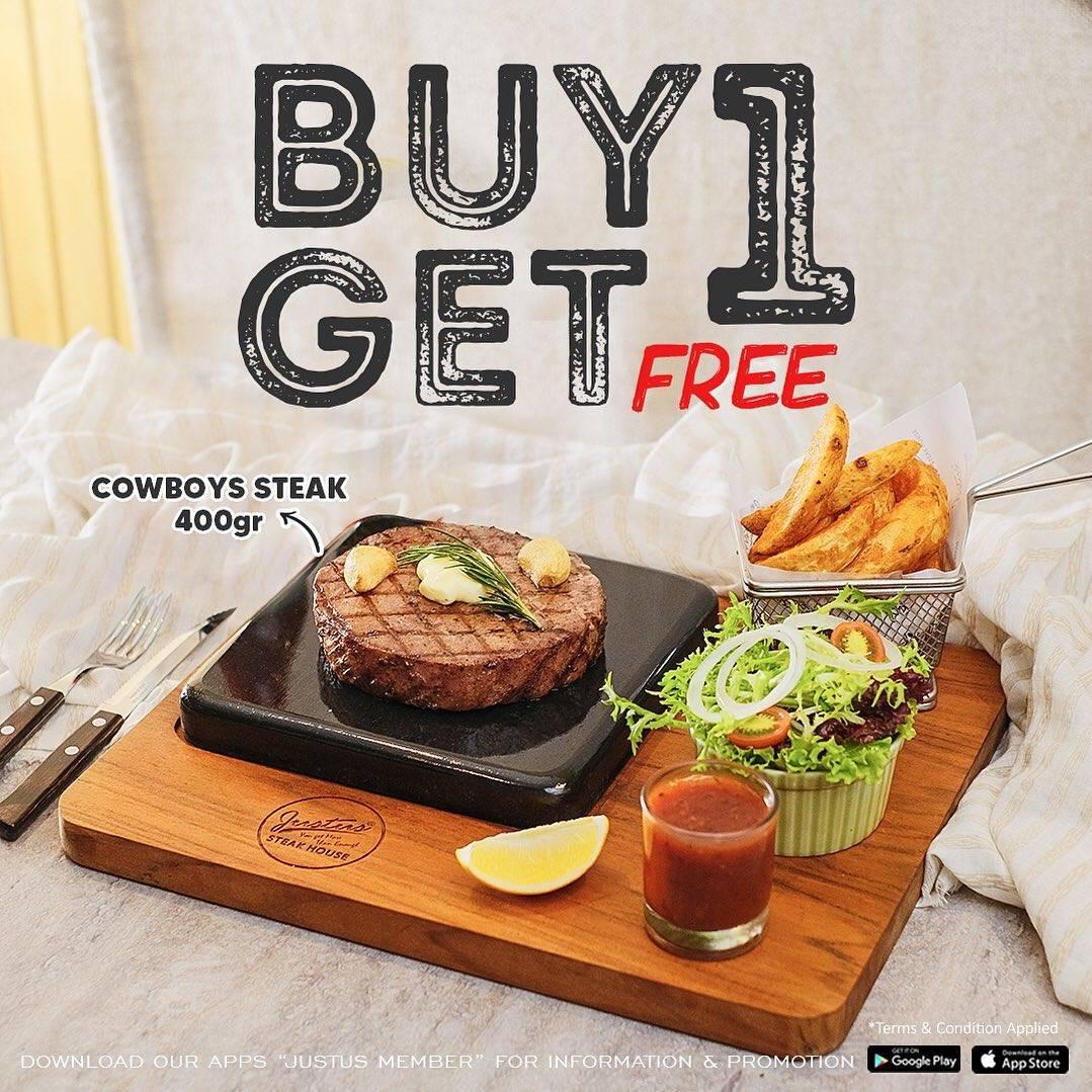 Diskon Just Us Burger Steak Buy 1 Get 1 Free Cowboy Steak