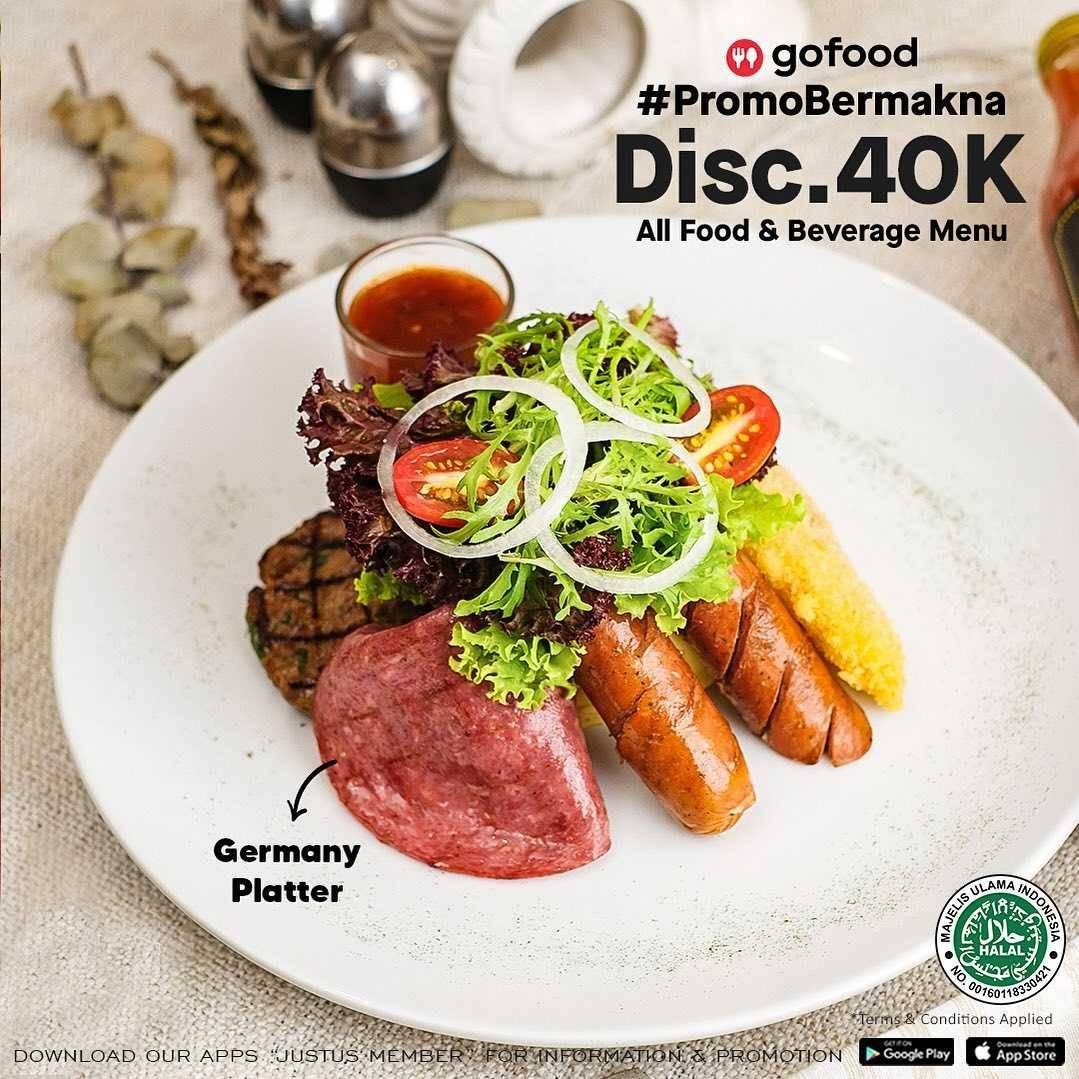 Diskon Just Us Burger Steak Discount Rp. 40.000 Dengan GoFood