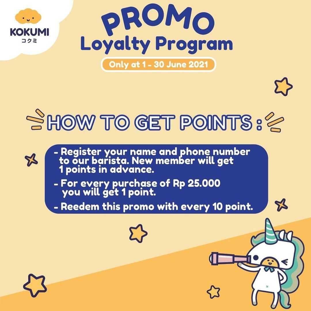 Promo diskon Kokumi Promo Loyalty Program