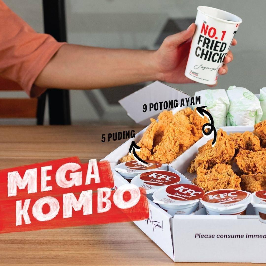 Diskon KFC Promo Mega Kombo Harga Mulai Dari Rp. 240Ribuan