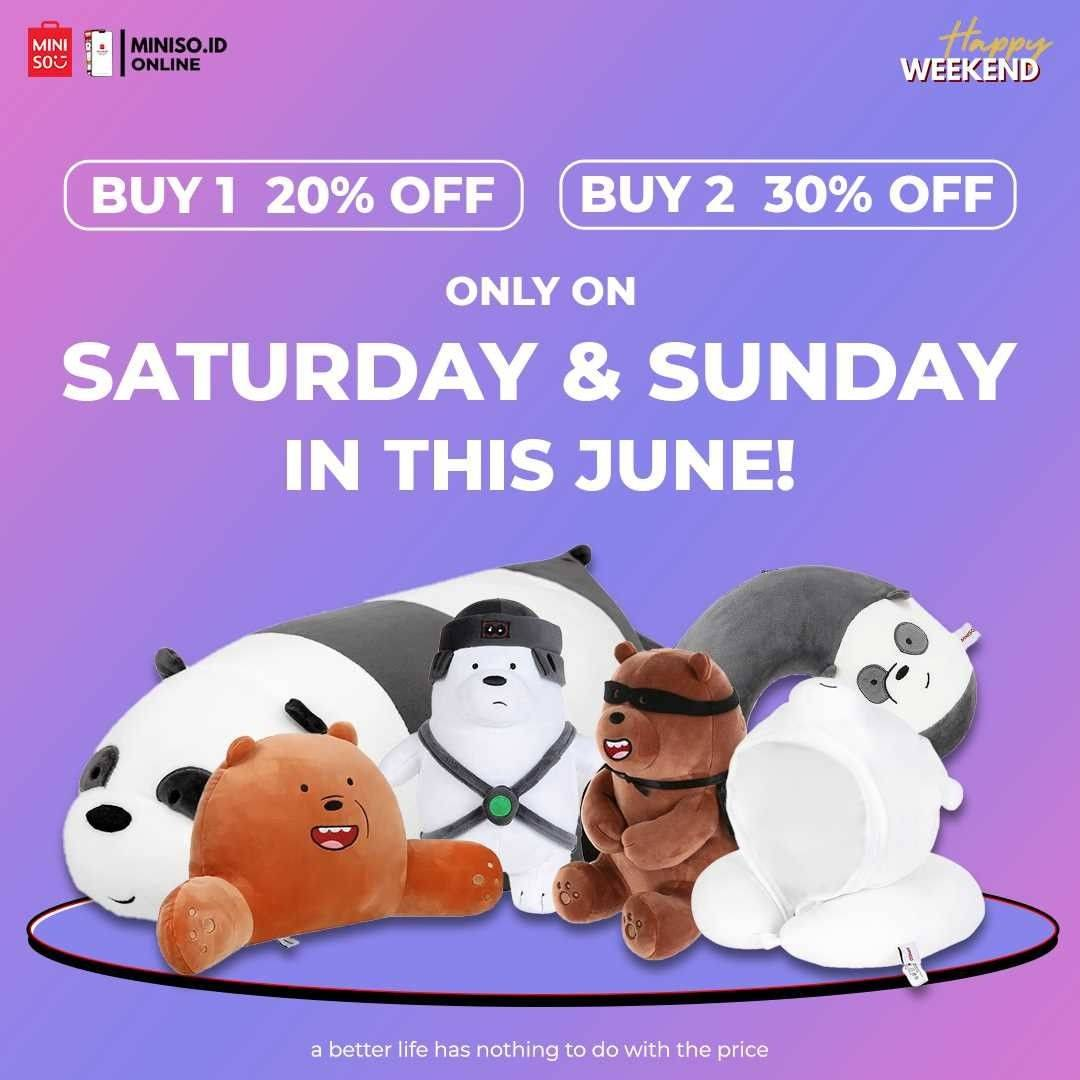 Diskon Miniso Get Discount Up To 30% Off On Bear Bears Product