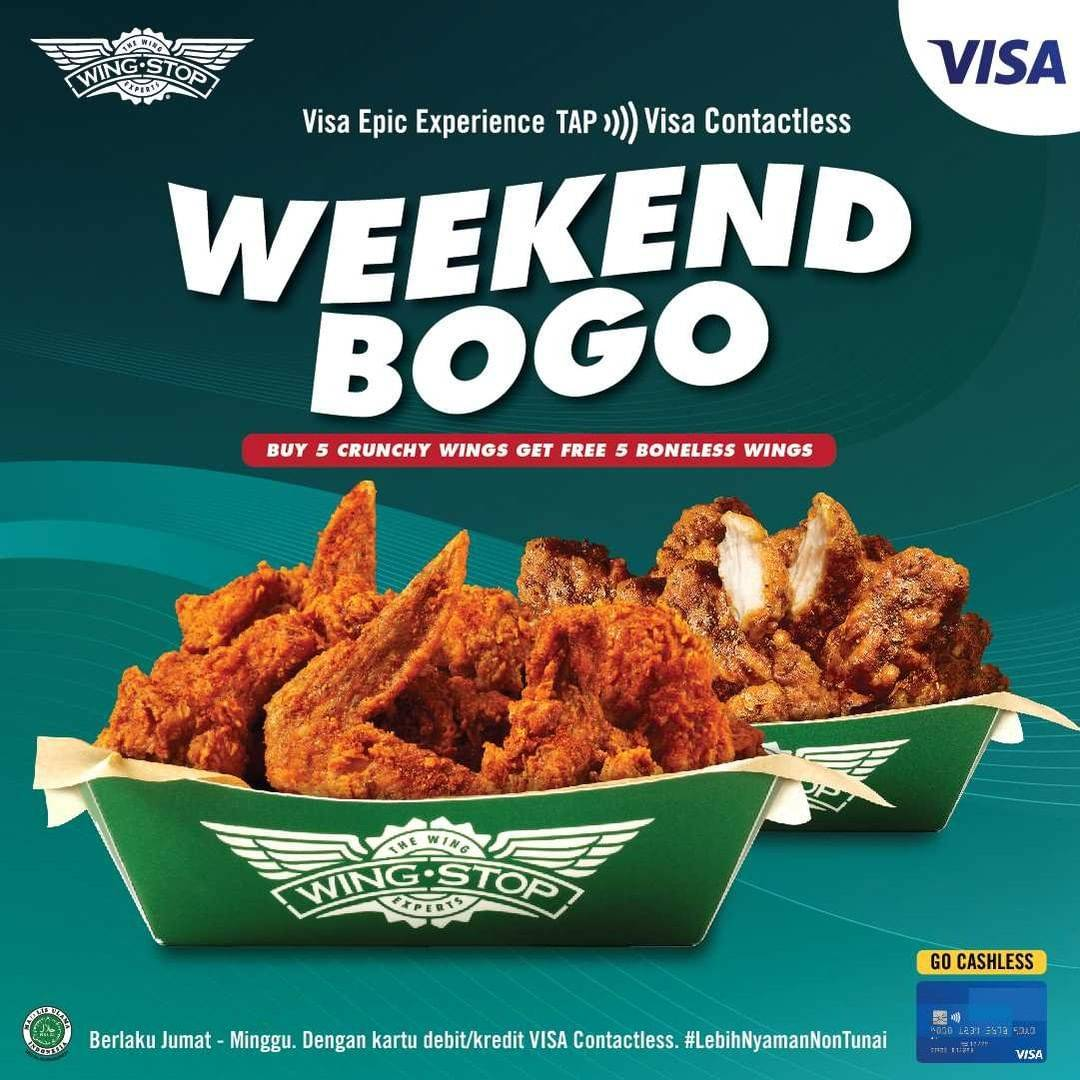 Diskon Wingstop Weekend Buy 1 Get 1 Free Wings With Visa Card