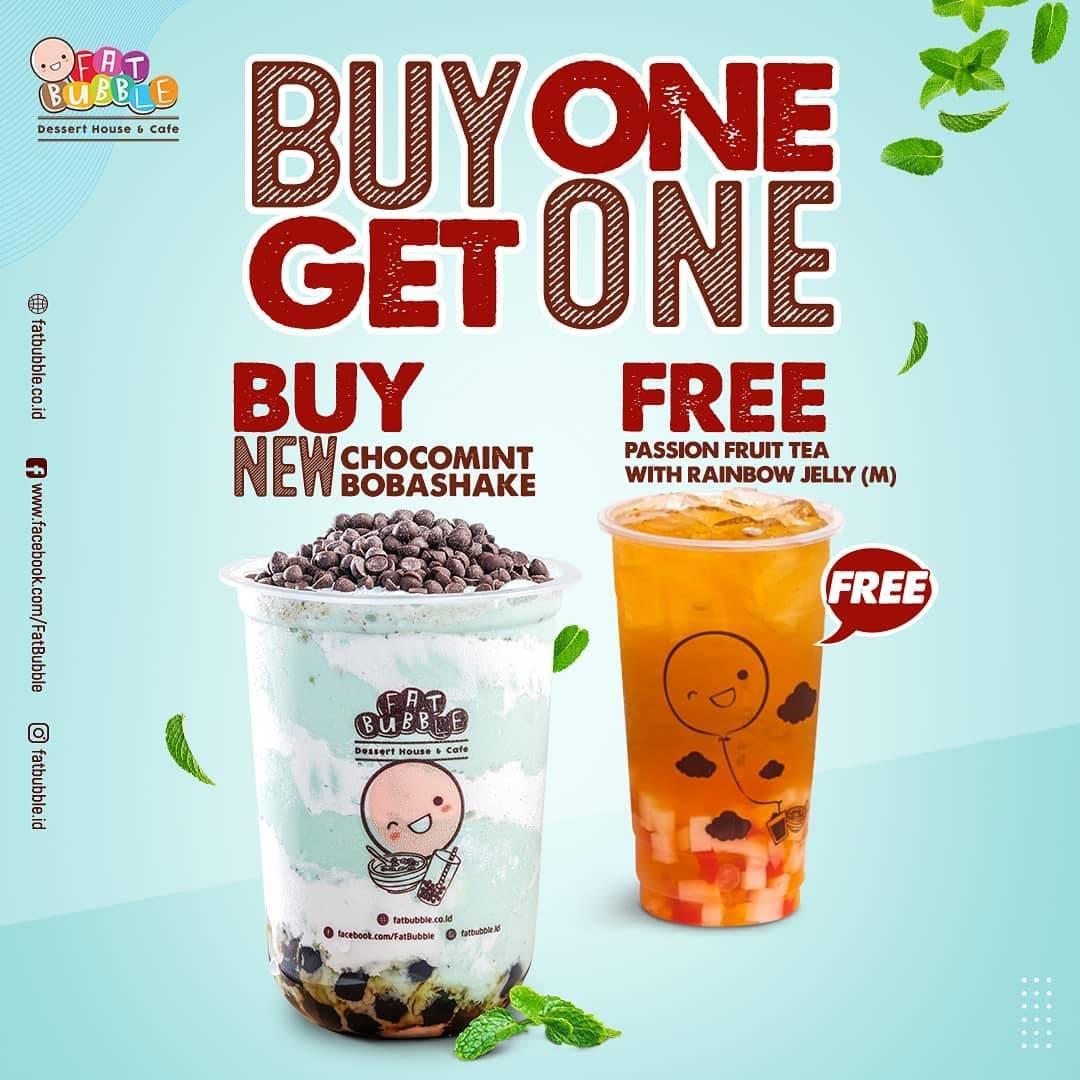 Diskon Fat Bubble Buy 1 Get 1 Free Beverages