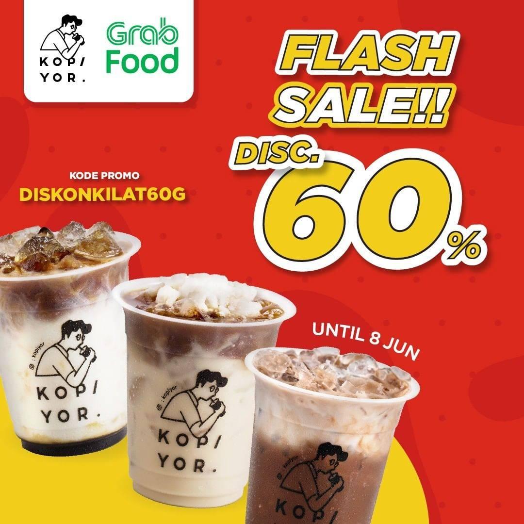 Diskon Kopi Yor Flash Sale Discount 60% Off Dengan GrabFood
