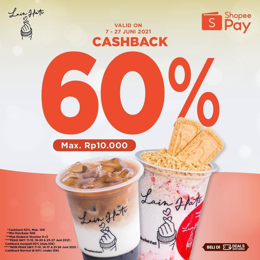 Diskon Kopi Lain Hati Cashback 60% Dengan Shopeepay