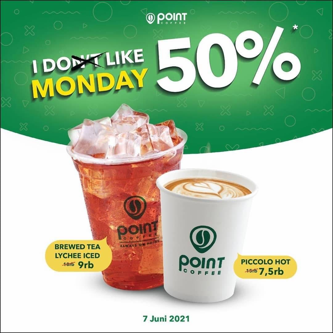 Diskon Point Coffee Discount 50% Off On Morning Coffee & Tea