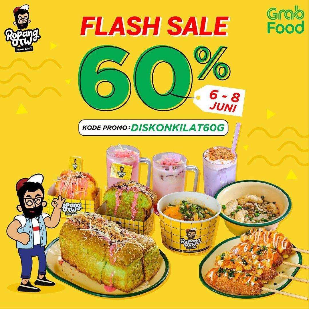 Diskon Ropang OTW Flash Sale 60% Dengan GrabFood