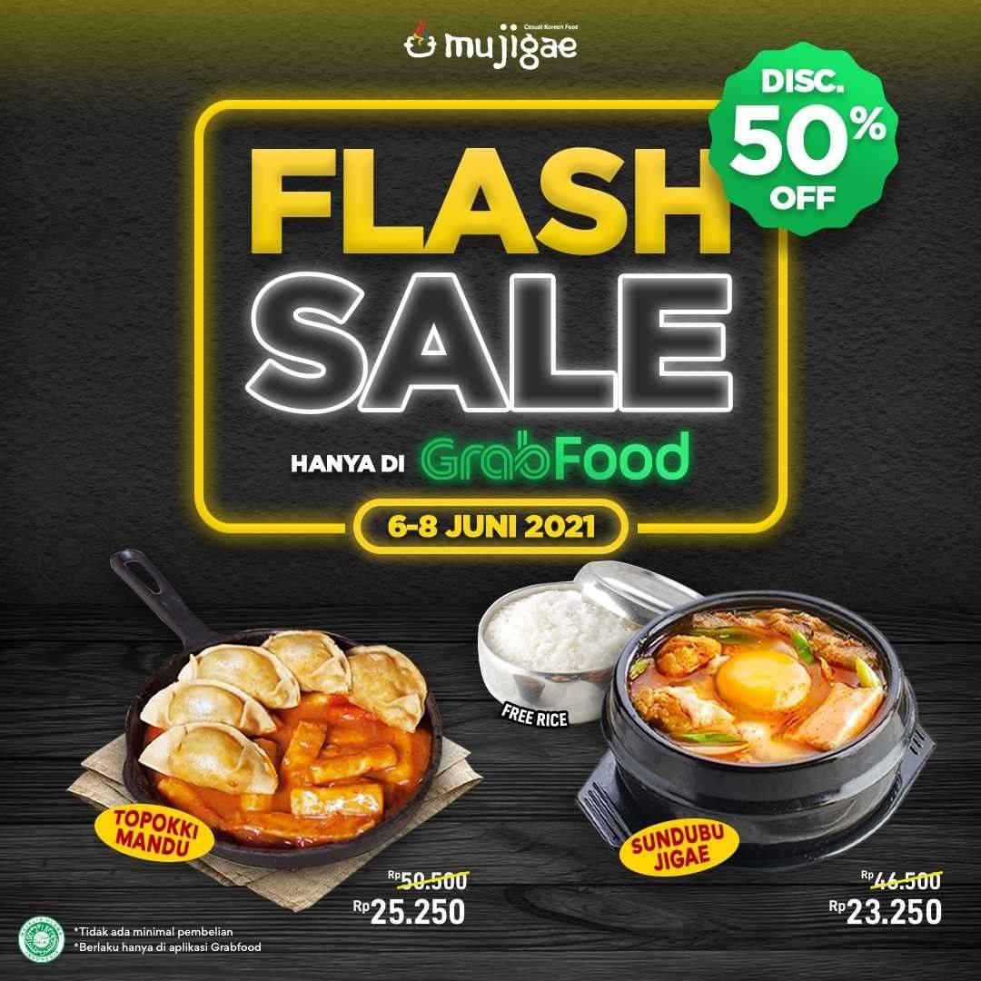 Diskon Mujigae Flash Sale 50% Off On GrabFood