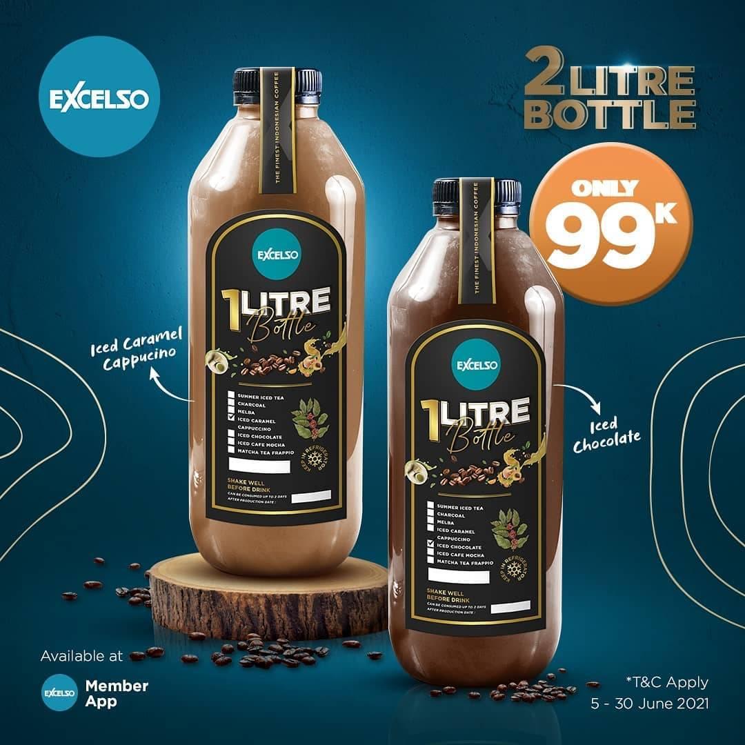 Diskon Excelso Promo 2L Bottle Beverages Only For Rp. 99.000 Via App