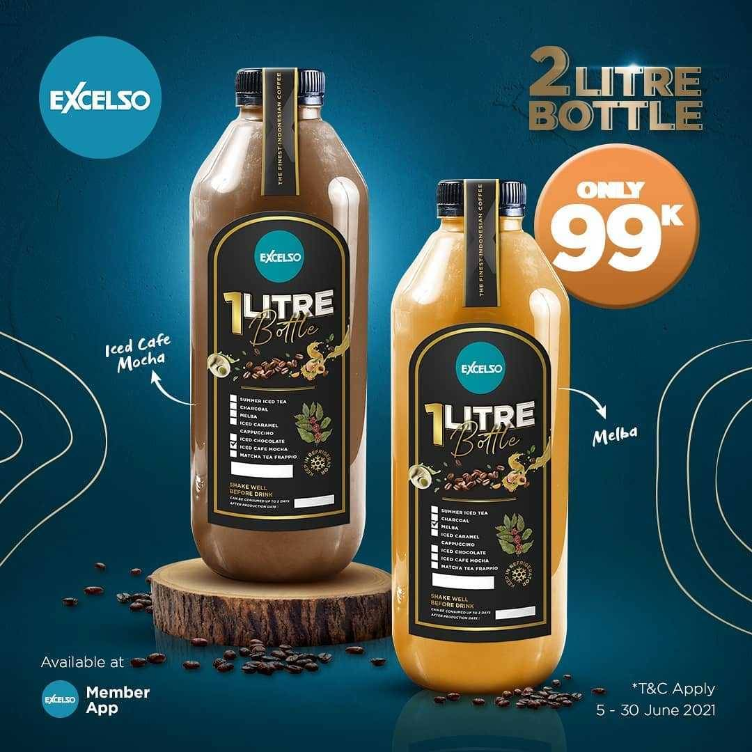 Promo diskon Excelso Promo 2L Bottle Beverages Only For Rp. 99.000 Via App