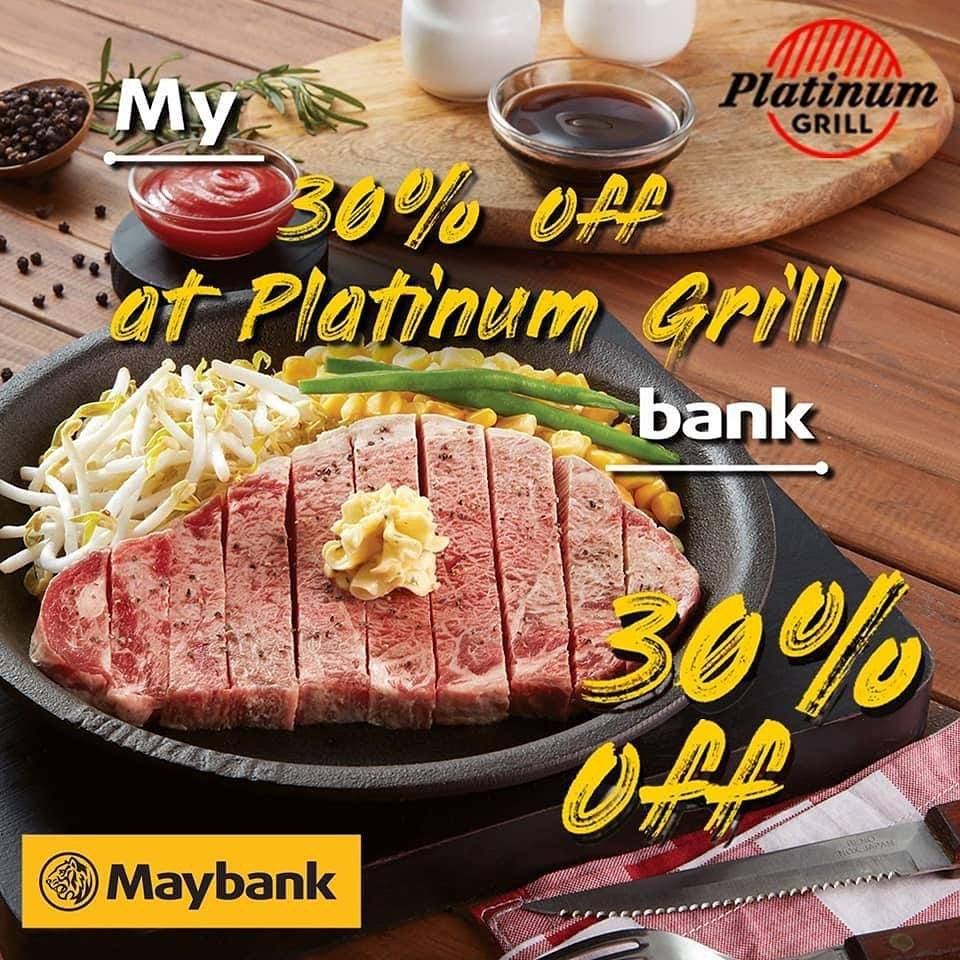 Diskon Platinum Discount 30% Off With Maybank Credit Card