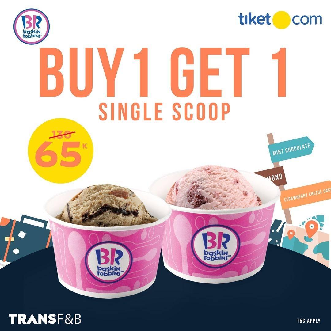 Diskon Baskin Robbins Beli 1 Gratis 1 Ice Cream Dengan Tiket.com