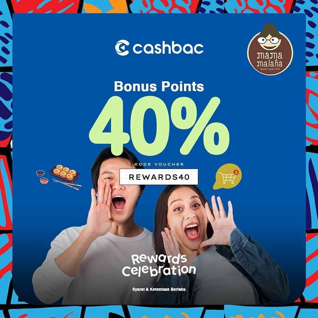 Diskon Mama Malaka Bonus Point 40% Cashbac