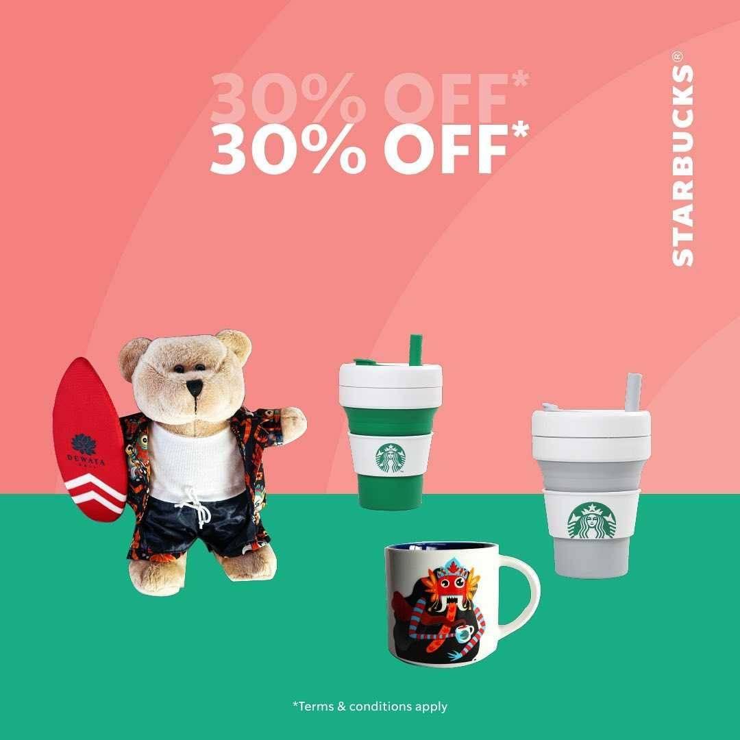 Promo diskon Starbucks Ready.Set.Sale Diskon Hingga 50% Untuk Merchandise