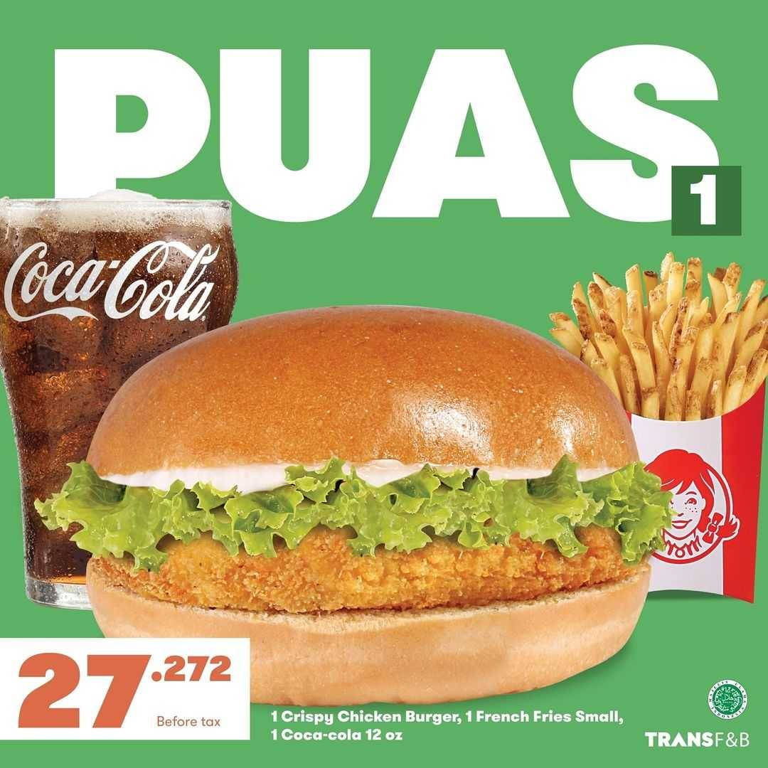 Promo diskon Wendys Promo Happy Tuesday Paket Puas Hanya Rp. 27Ribuan